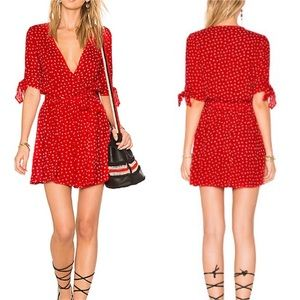 Faithful the brand Oslo red tie dress